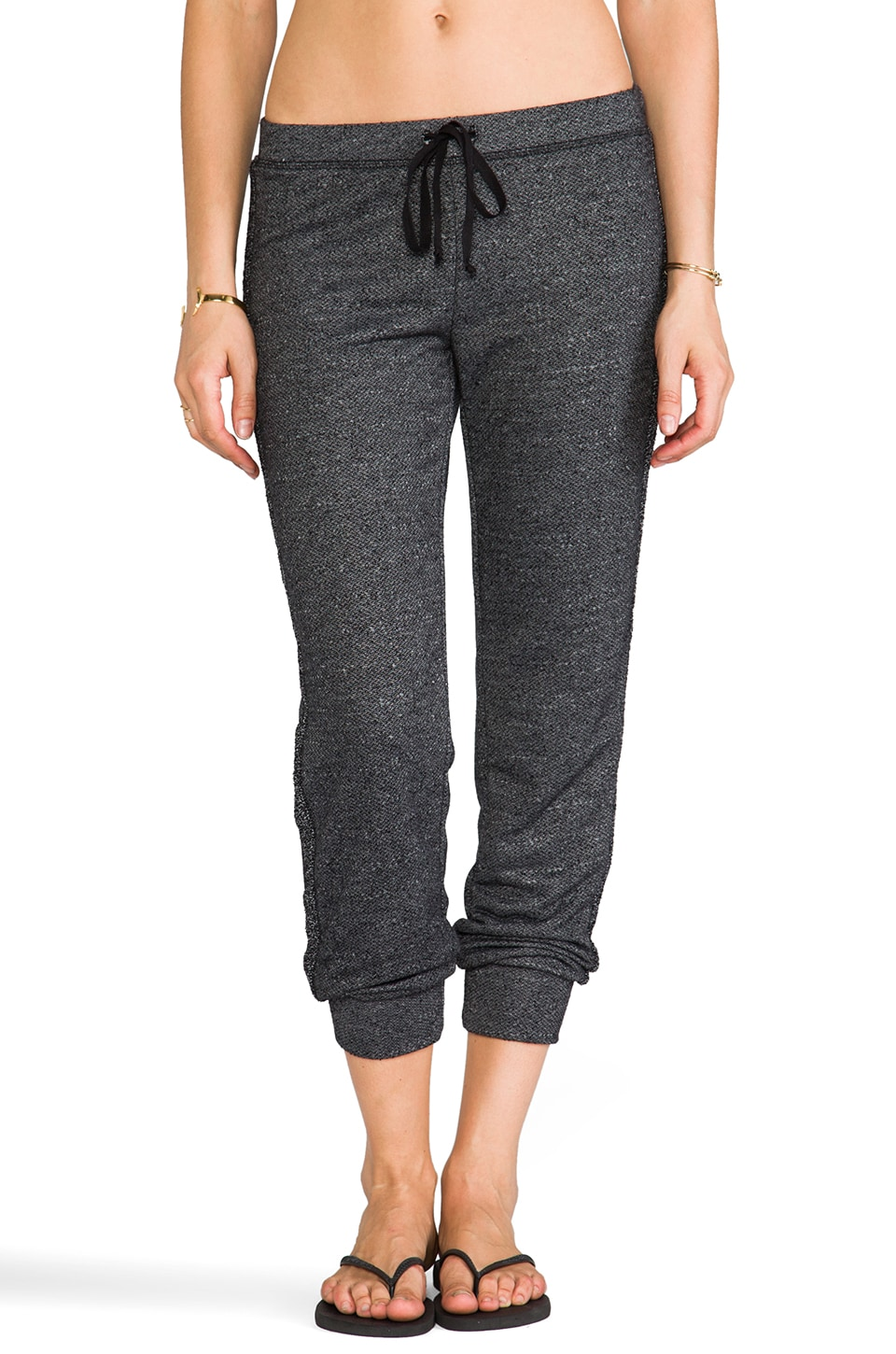 Velvet by Graham & Spencer Annie Fleece Pants in Anthracite