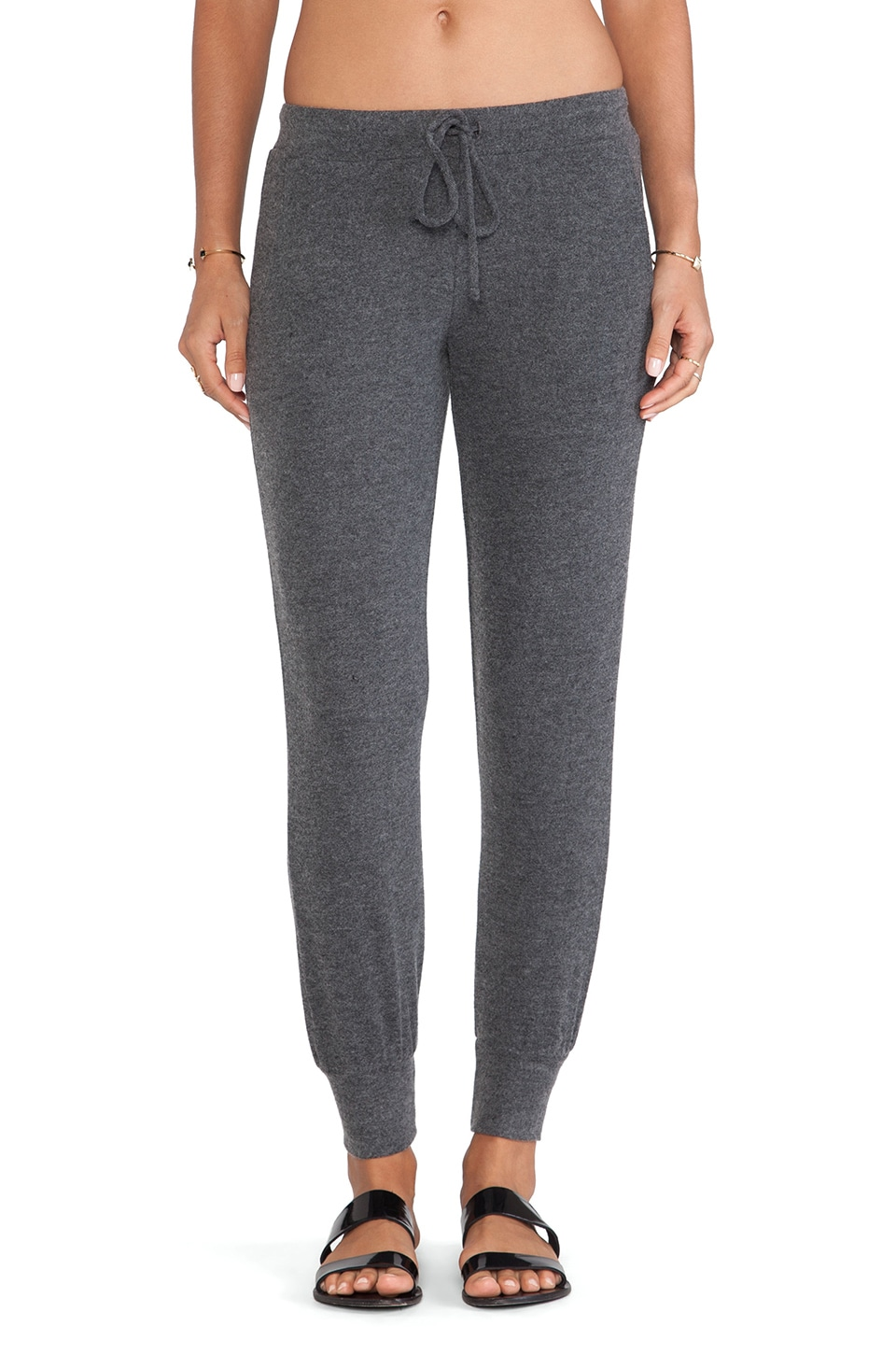 Velvet by Graham & Spencer Fabiola Cozy Jersey Pant in Charcoal
