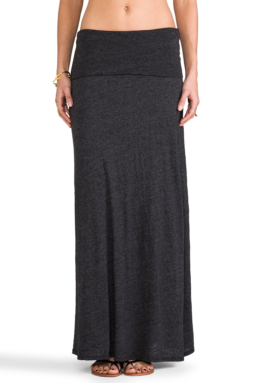 Velvet by Graham & Spencer Velvet Soft Texture Lindsey Skirt in Black