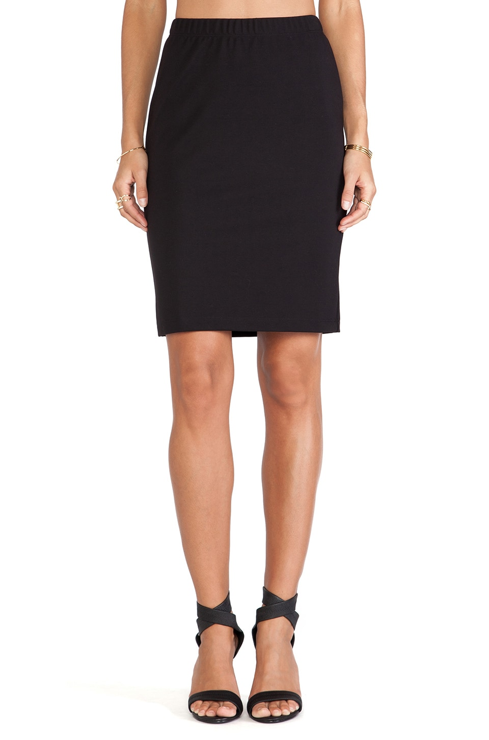 Velvet by Graham & Spencer Frisco Ponti Basic Skirt in Black
