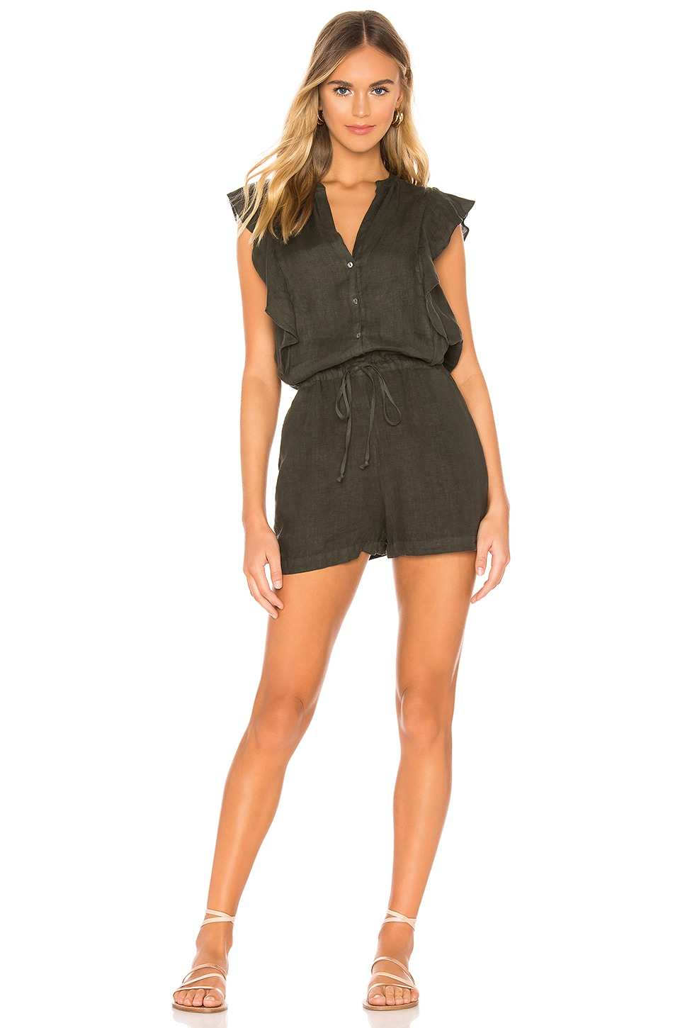 Velvet by Graham & Spencer Francis Romper in Dillweed