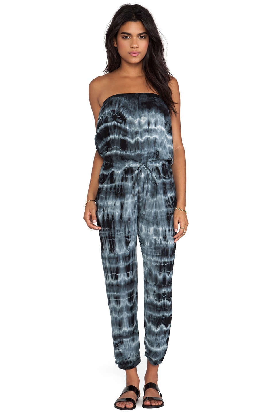 Velvet by Graham & Spencer Bali Tie Dye Rayon Voile Romper in City
