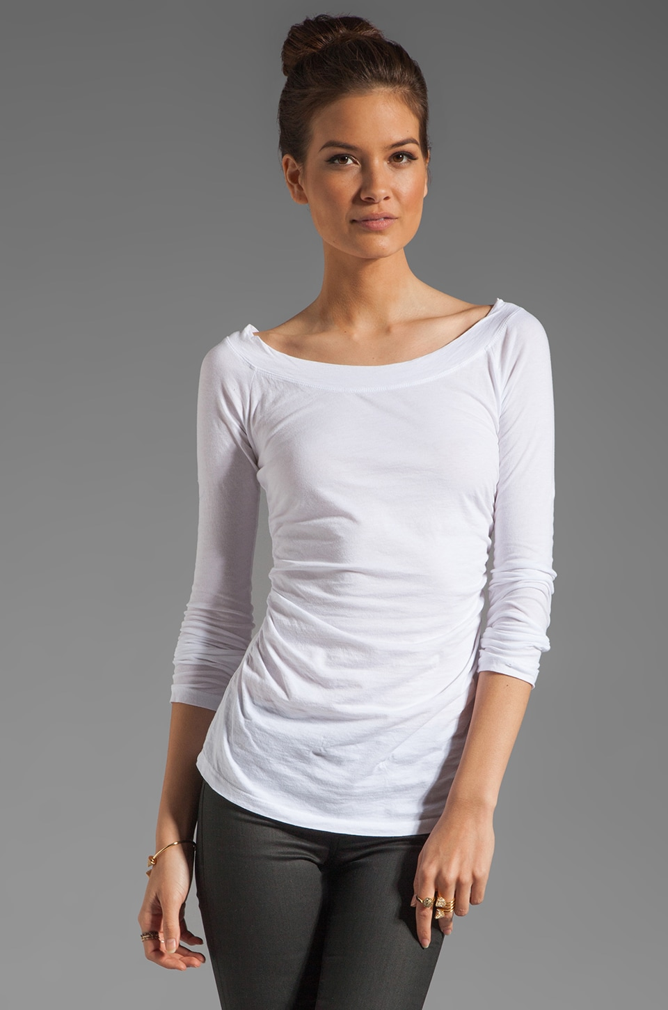 Velvet by Graham & Spencer Gauzy Whisper Consuelo Top in White
