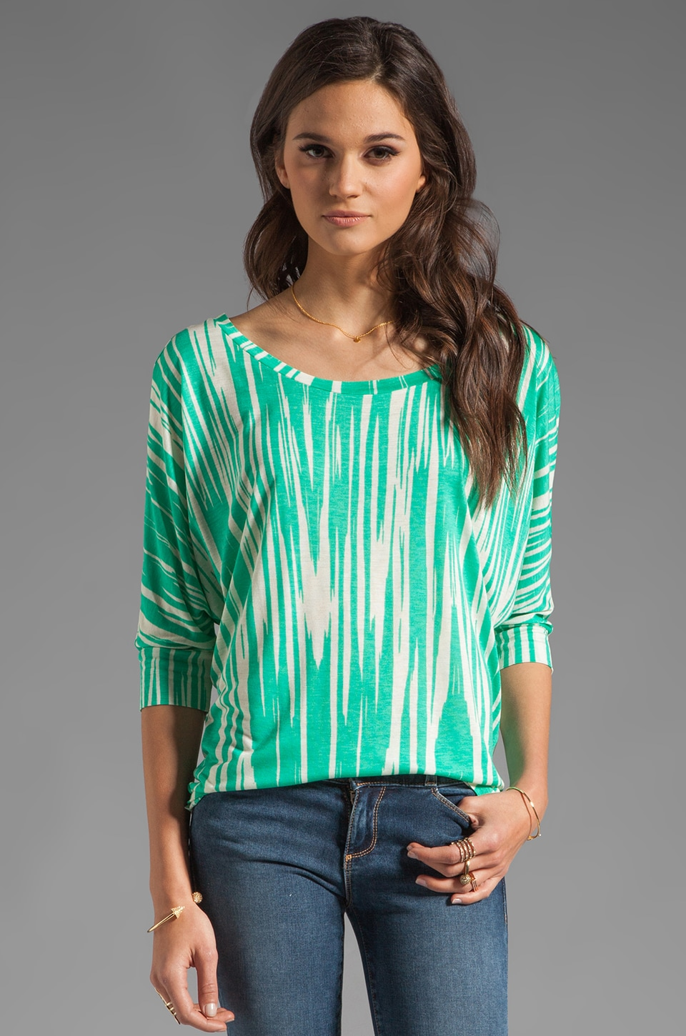 Velvet by Graham & Spencer Key West Bella Top in Clover