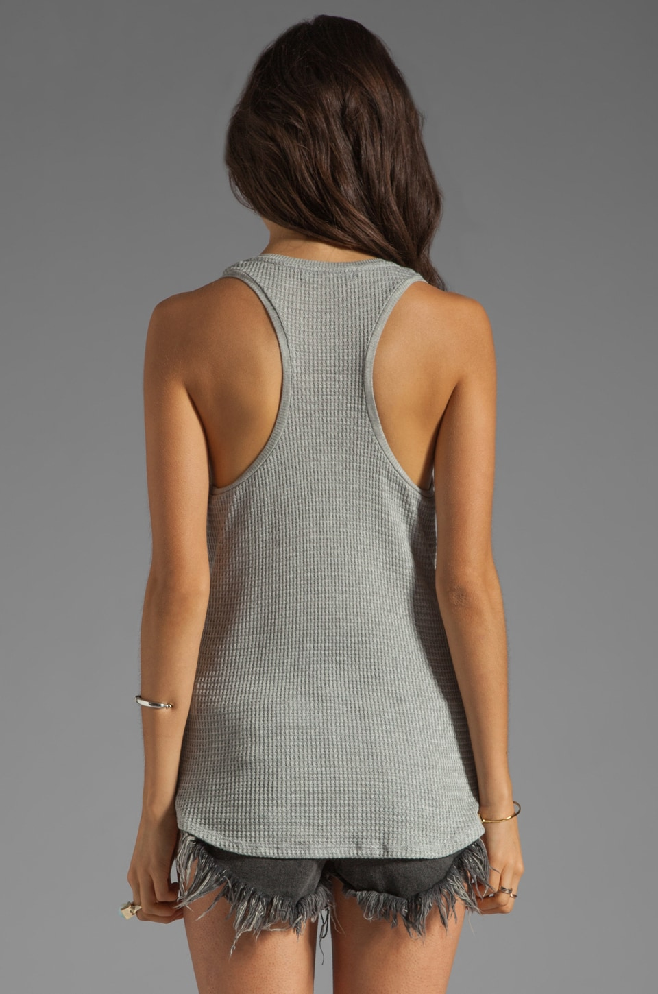 Velvet by Graham & Spencer Cambria Textured Knit Tank in Heather Grey