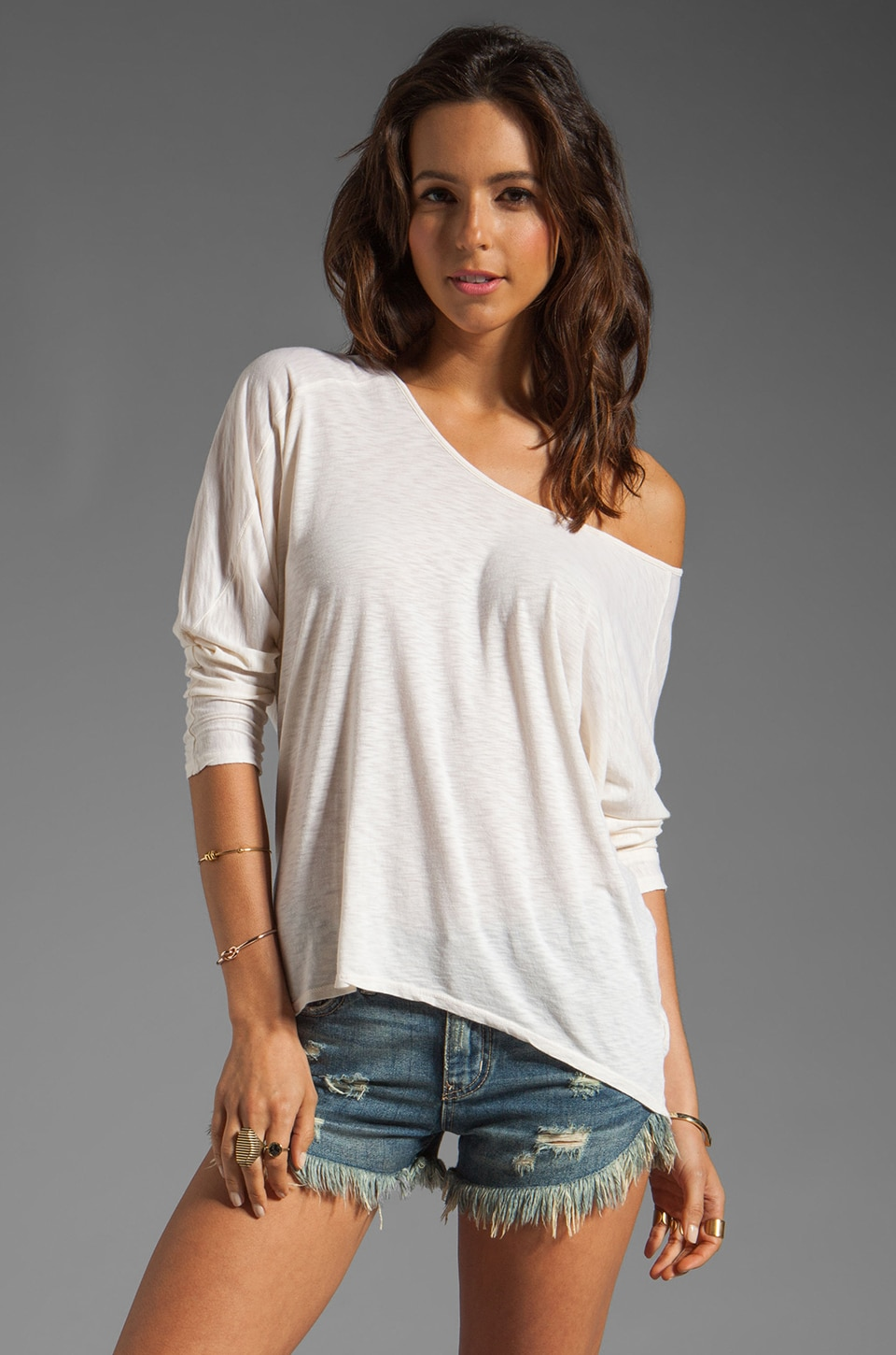 Velvet by Graham & Spencer Madison Luxe Slub Top in Cathedral
