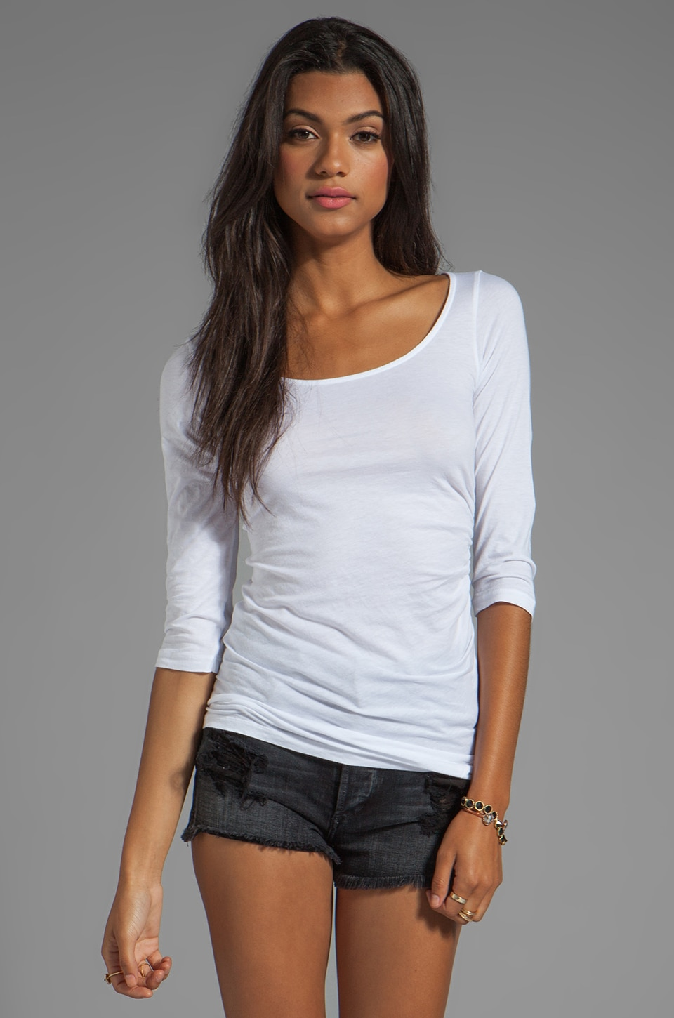 Velvet by Graham & Spencer Grace Gauzy Whisper Novelty Top in White