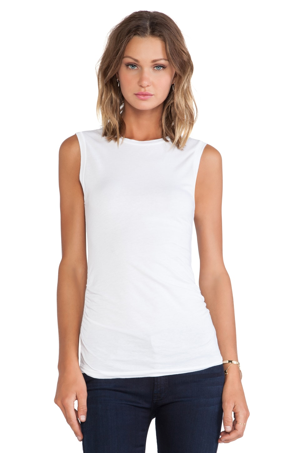 Velvet by Graham & Spencer Margot Gauzy Whisper Tank in White
