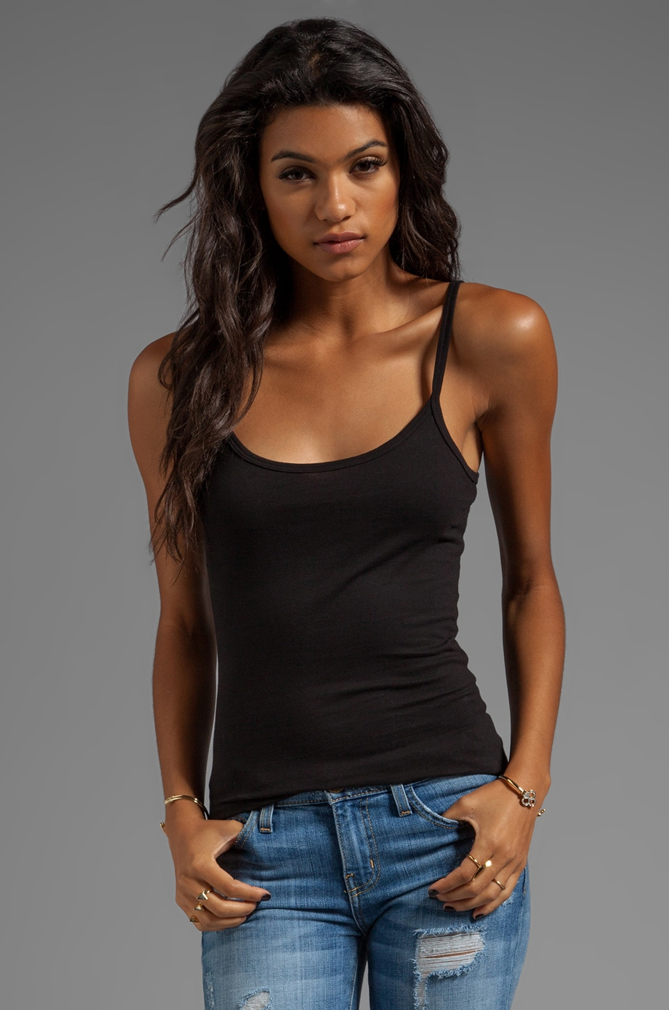 Velvet by Graham & Spencer Mikita Baby Jersey Tank in Black