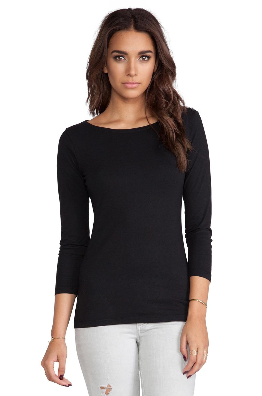 Velvet by Graham & Spencer Natashya Baby Jersey Long Sleeve in Black