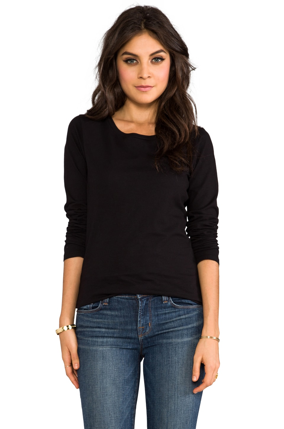 Velvet by Graham & Spencer Baby Jersey Maritzio Long Sleeve in Black