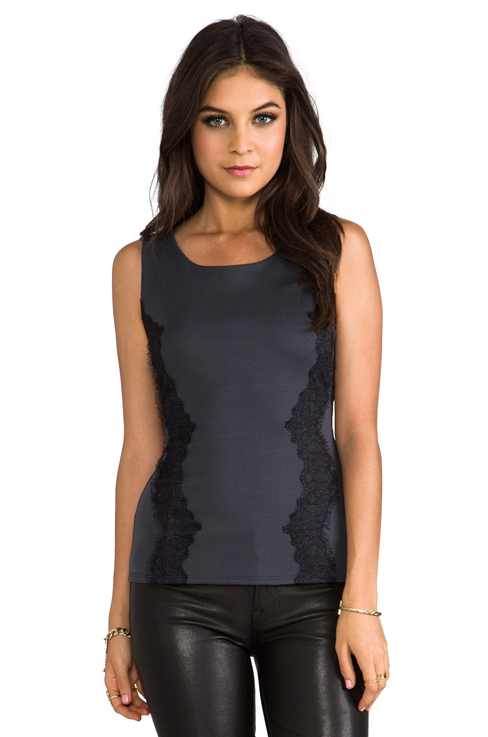 Velvet by Graham & Spencer Velvet Abina Tank in Steel
