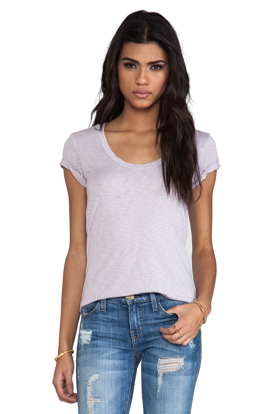 Velvet by Graham & Spencer Velvet Luxe Slub Koren Tee in Fin