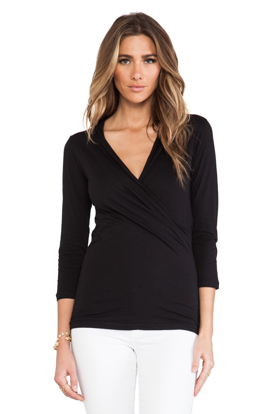 Velvet by Graham & Spencer Adpra Whisper Classic Top in Black