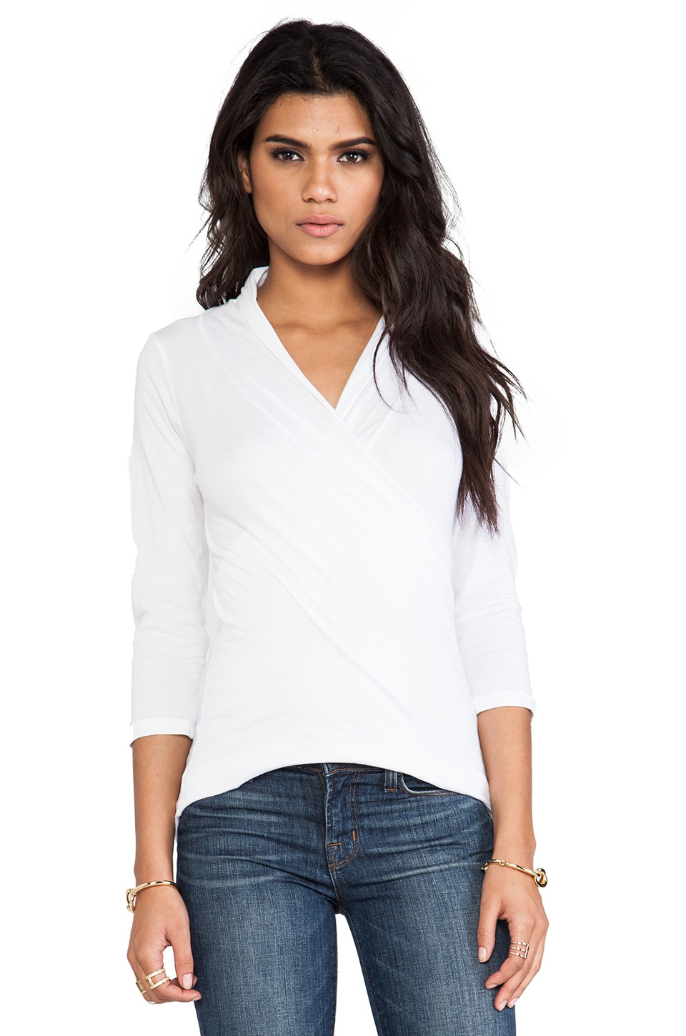 Velvet by Graham & Spencer Adora Whisper Classic Top in White