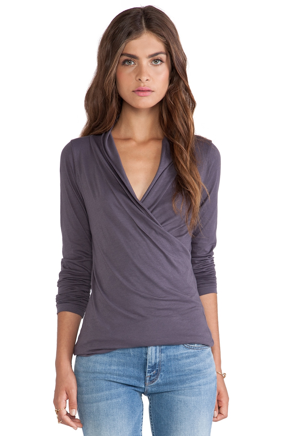 Velvet by Graham & Spencer Meri Gauzy Whisper Top in Exhaust