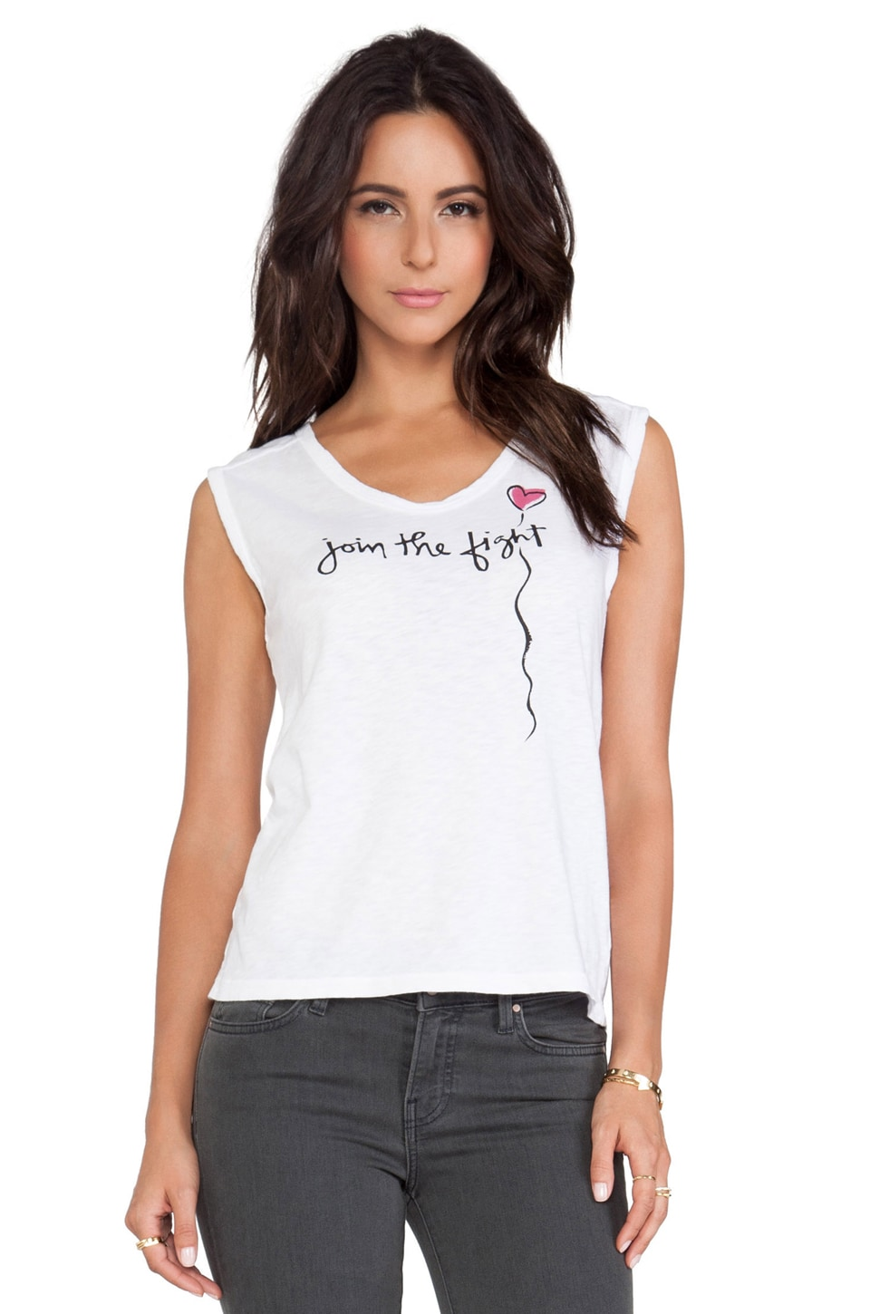 Velvet by Graham & Spencer St. Judes Lily Tee in White