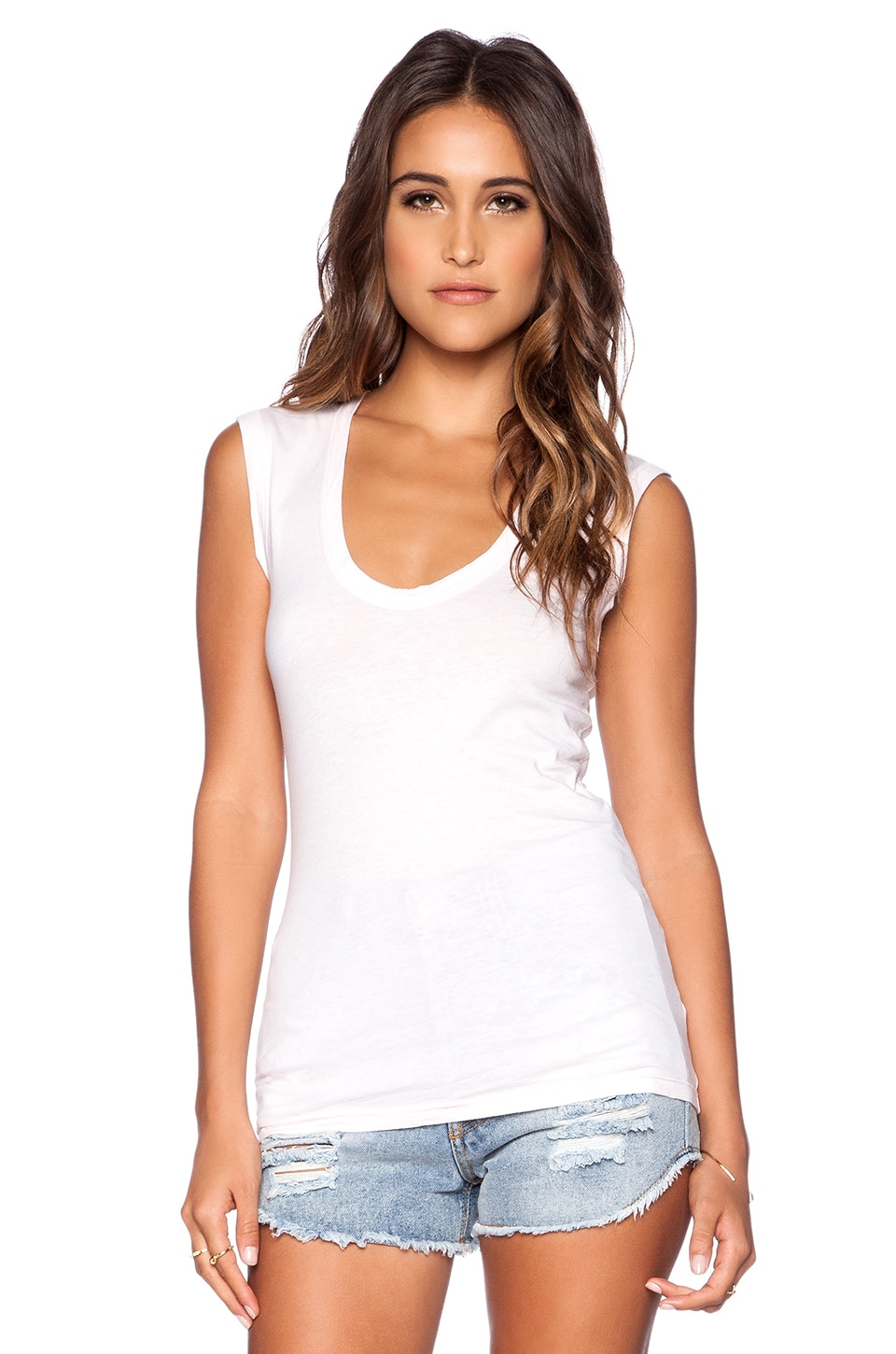 Velvet by Graham & Spencer Gauzy Whisper Estina Tank in Ballet