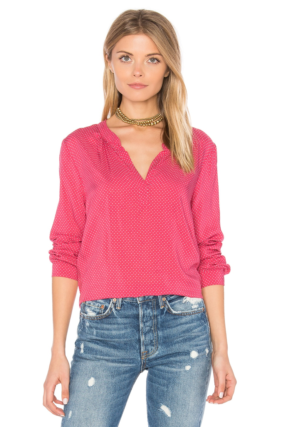 Jena V Neck Blouse by Velvet by Graham & Spencer