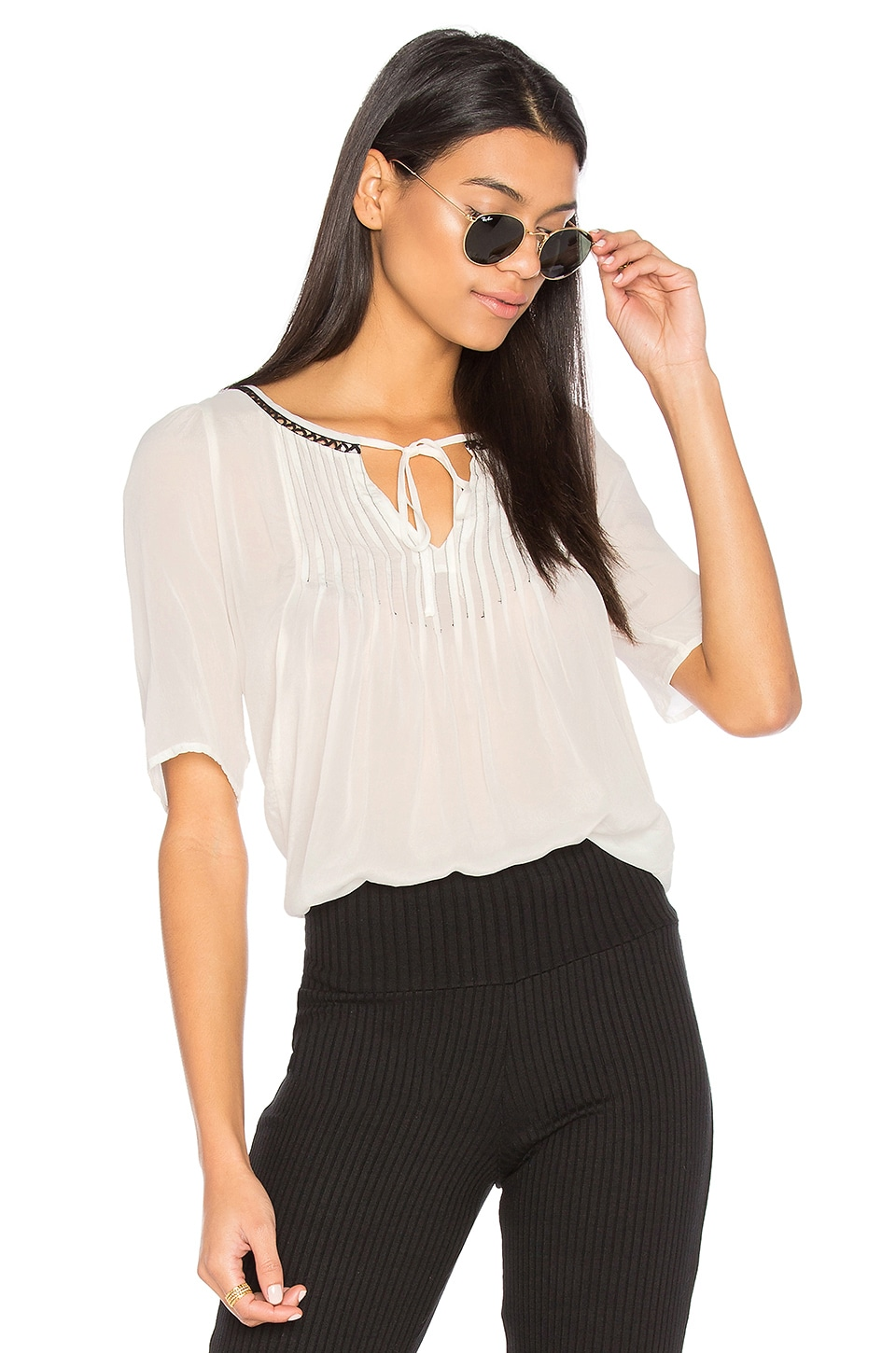 Blake Pintuck Blouse by Velvet By Graham & Spencer