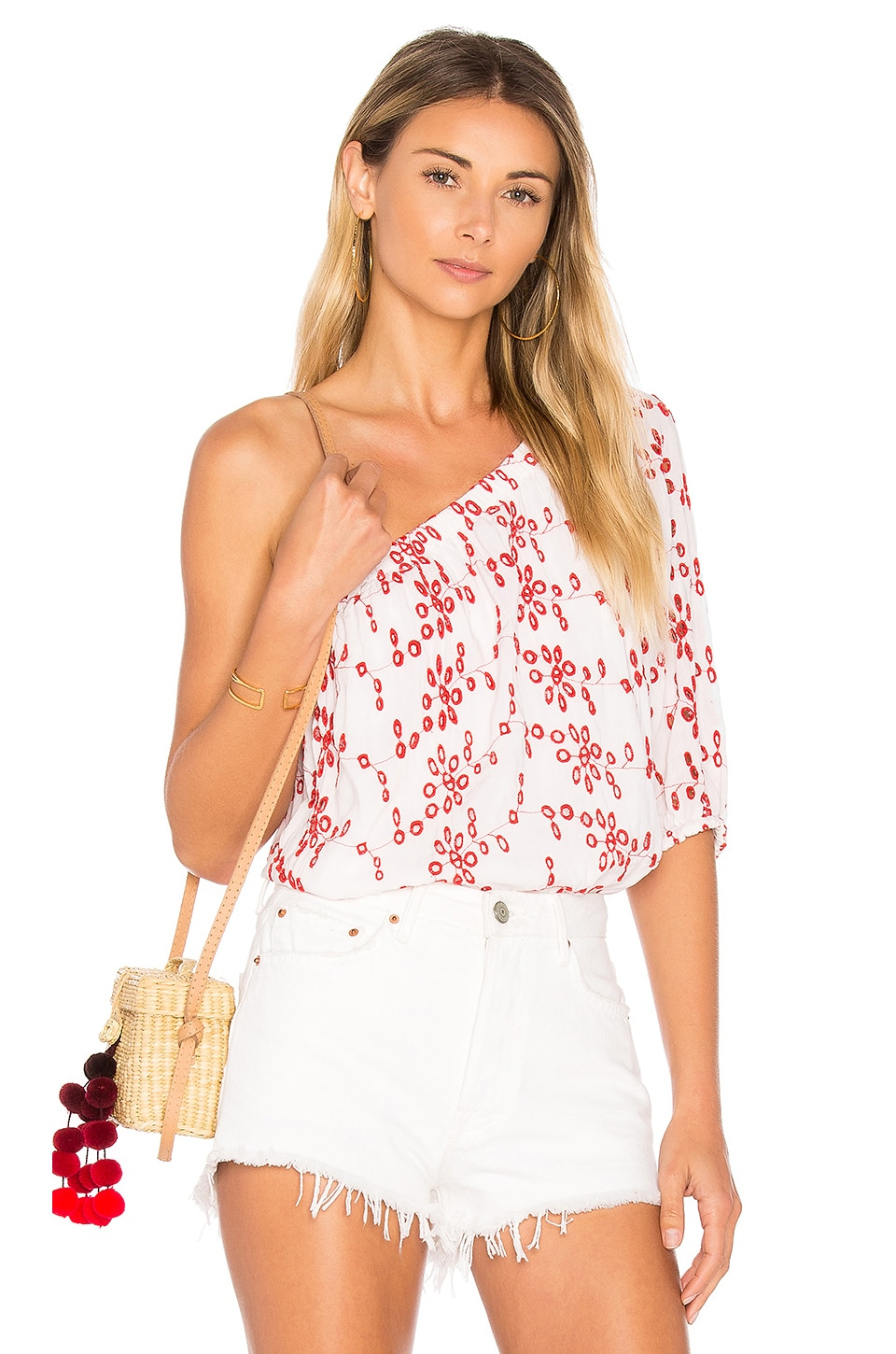 Maya Eyelet Top by Velvet By Graham & Spencer