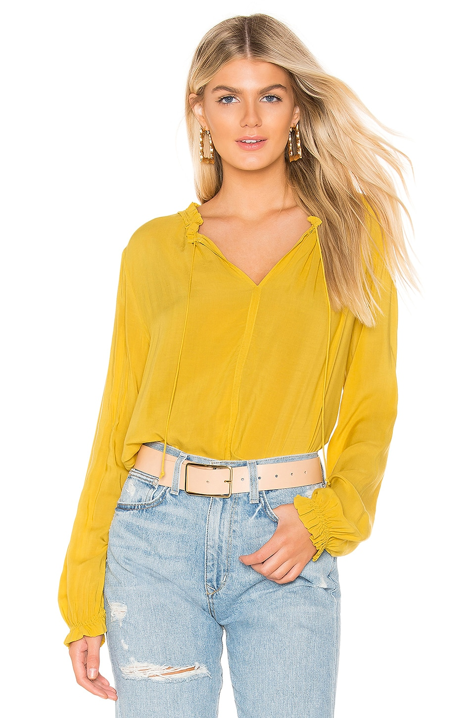 Velvet by Graham & Spencer Samantha Blouse in Canary