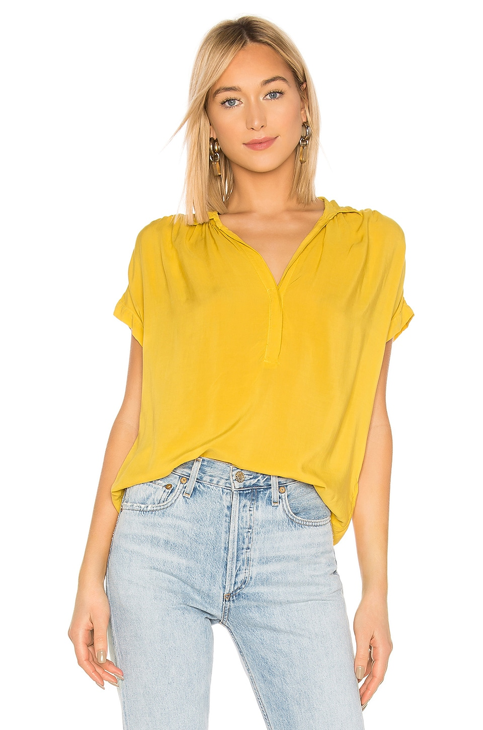 Velvet by Graham & Spencer Taylen Blouse in Canary