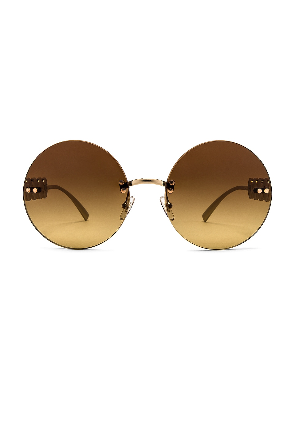 VERSACE Rock Icons Round in Pale Gold & Brown Gradient