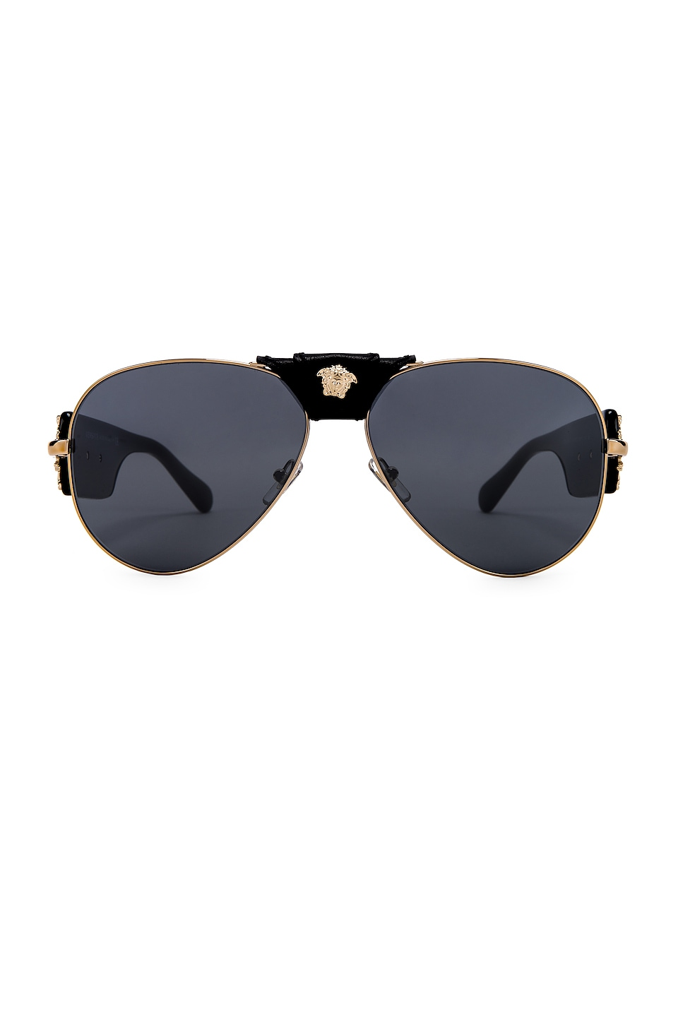 VERSACE Barocco Aviator in Black & Grey Mirror