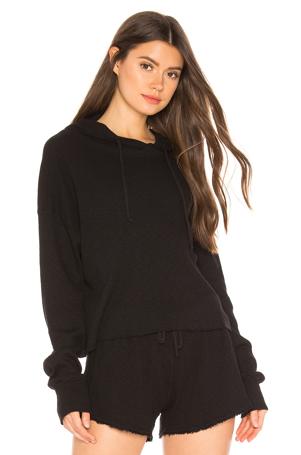 Vimmia Haven Crop Hoodie in Black