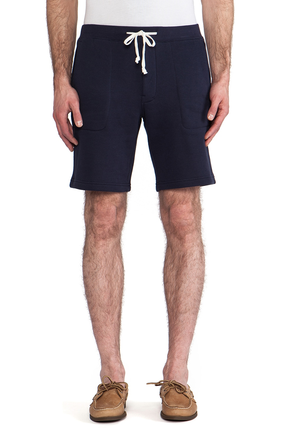 Vince Fleece Shorts in Coastal