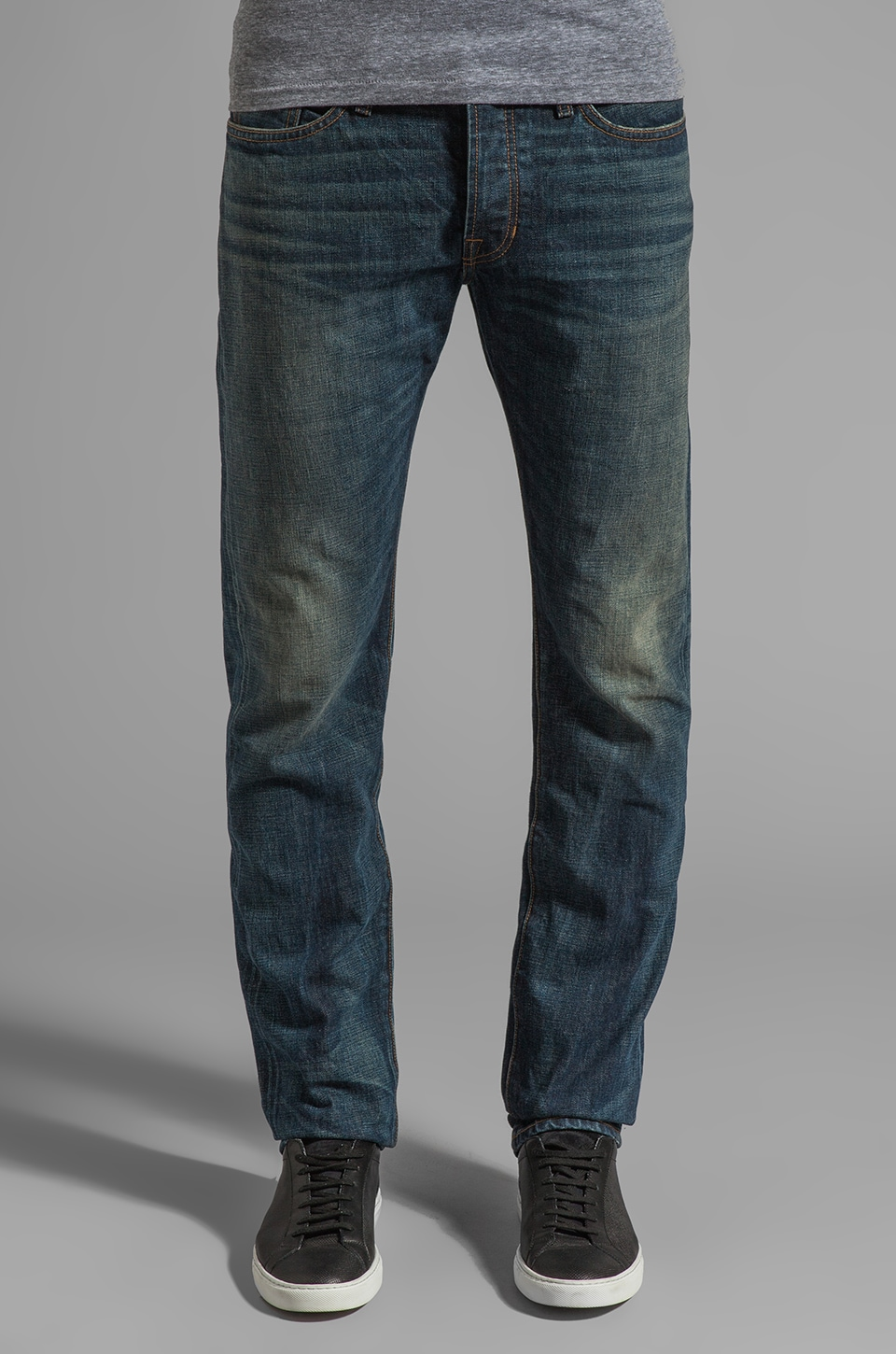 Vince Straight Leg Washed Selvedge Denim in Jefferson