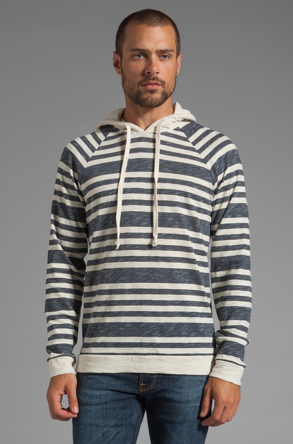 Vince Printed Stripe Sweatshirt in Mantarey