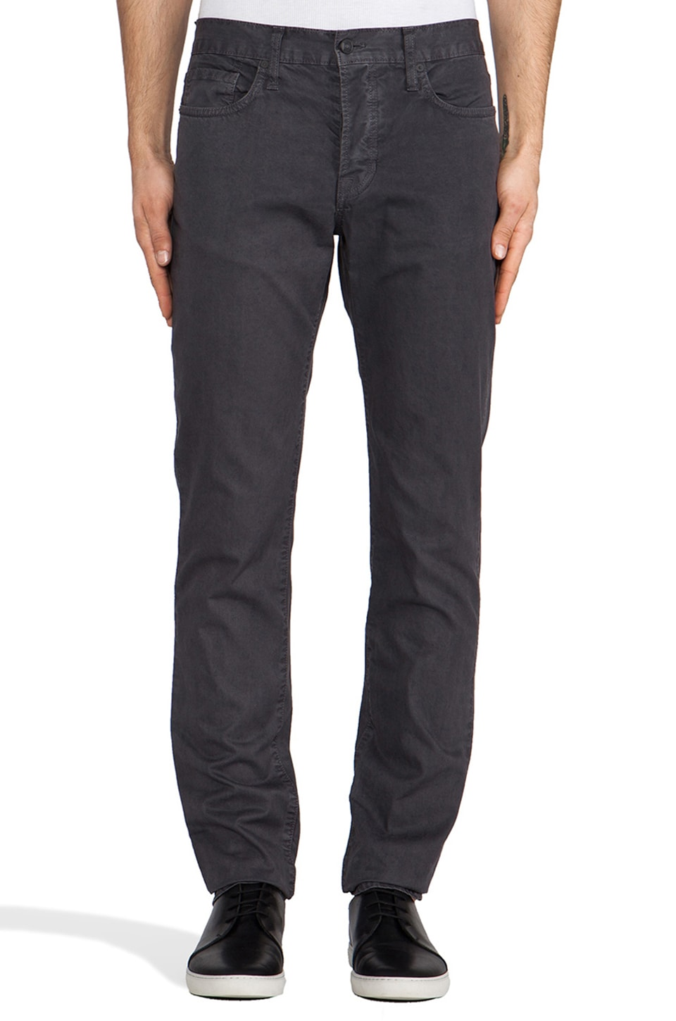 Vince Rhodes Slim 5 Pocket in Charcoal