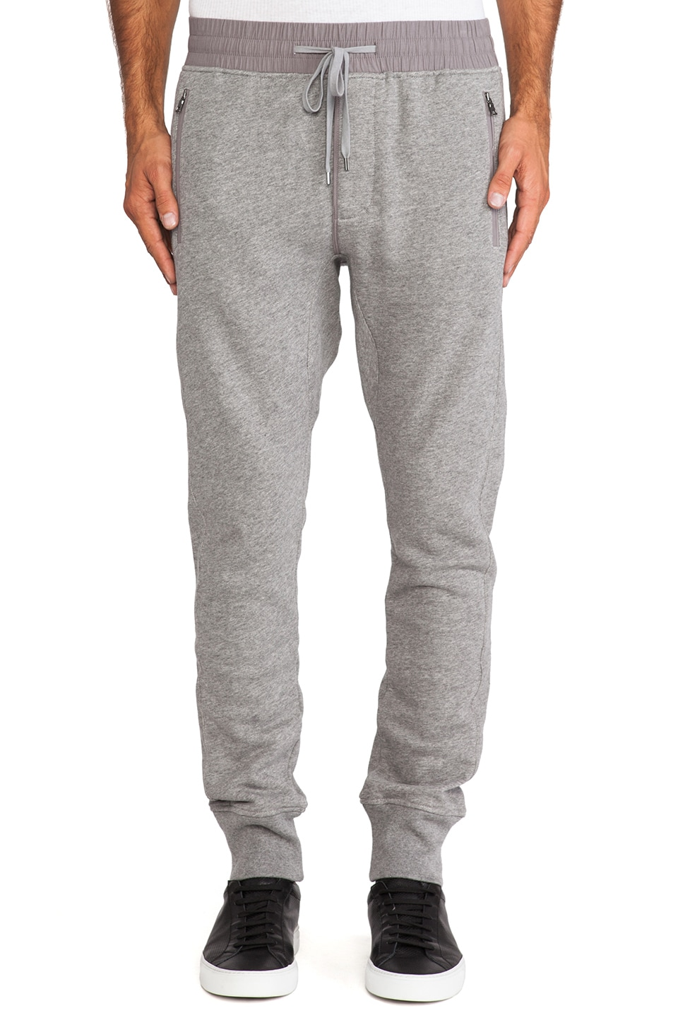 Vince French Terry Sweatpant in Heather Cinder