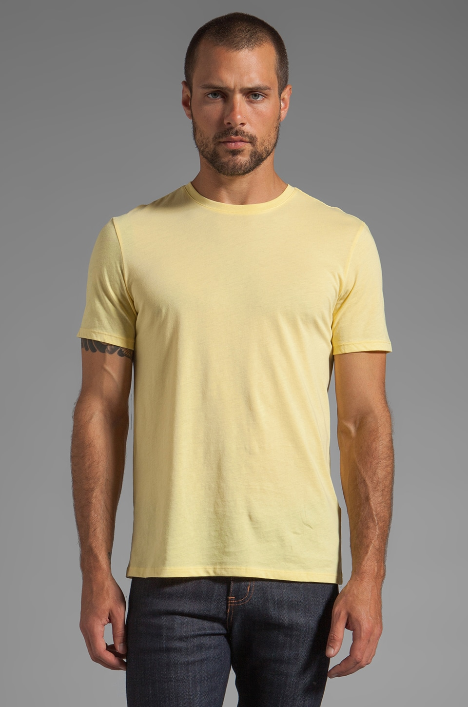 Vince Crew Neck in Lemon M