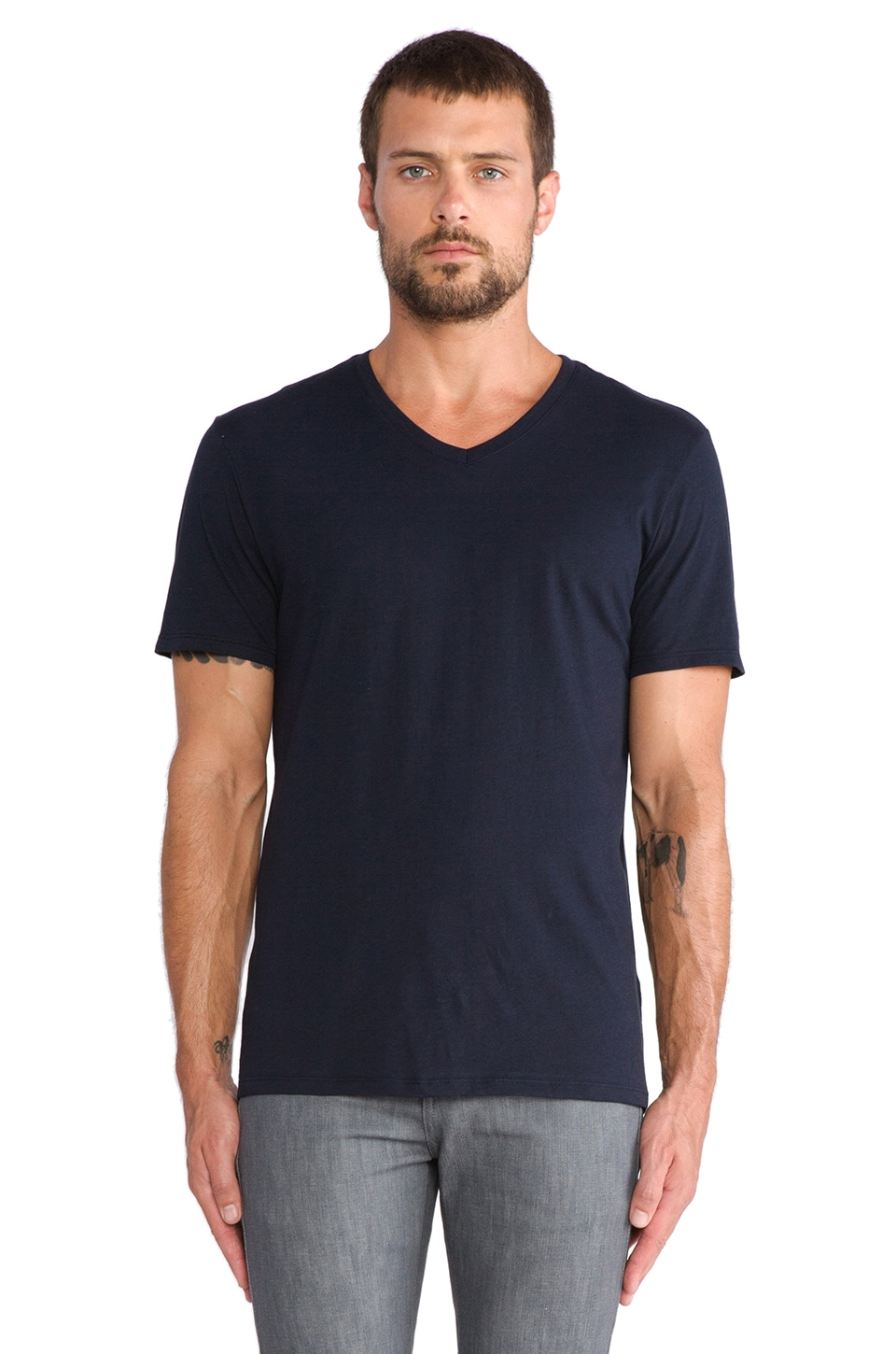 Vince Favorite Jersey V-Neck in Coastal