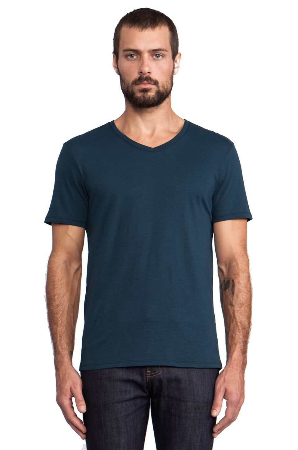 Vince Favorite Jersey V-Neck in Moonstone