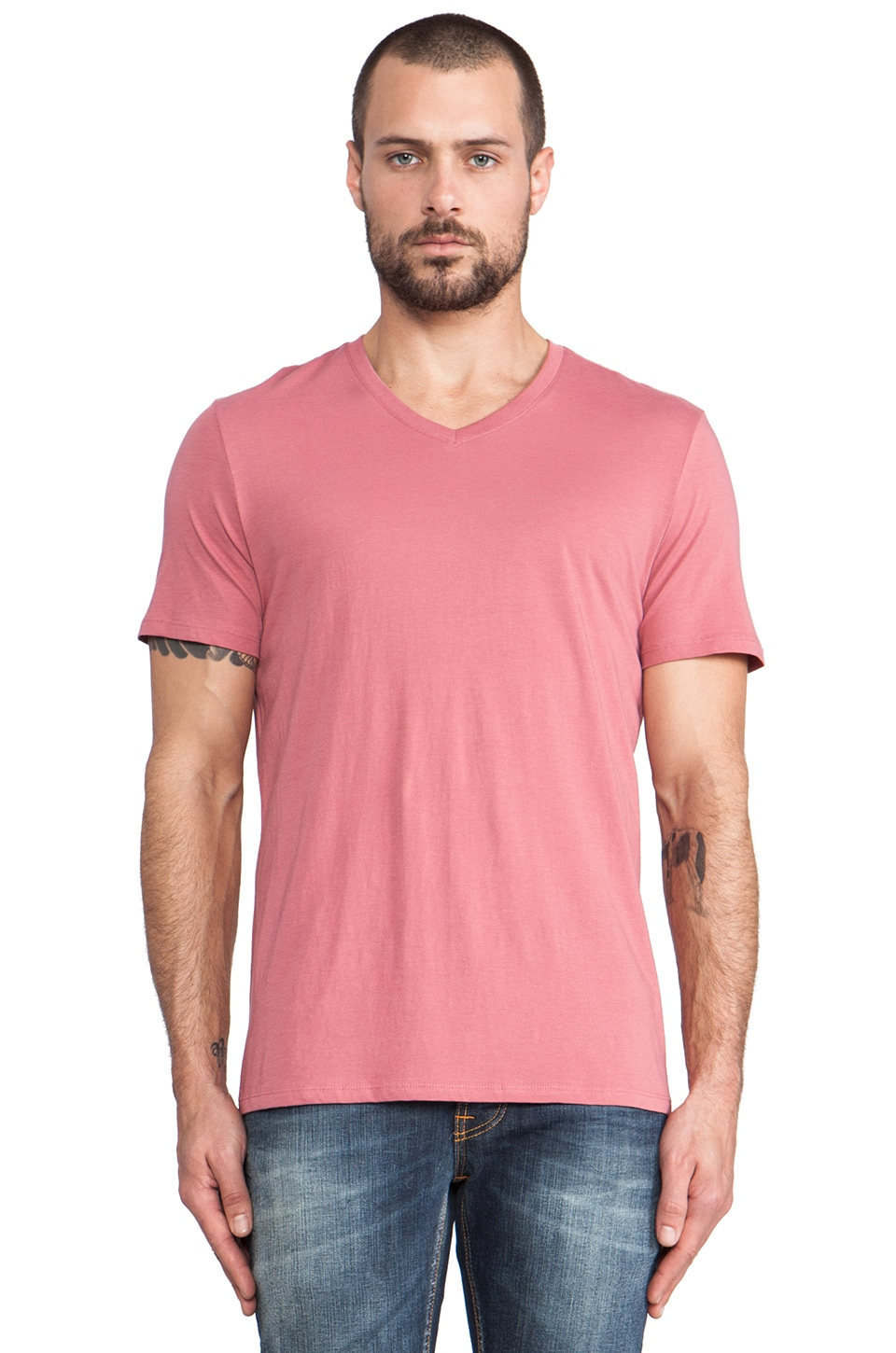 Vince Favorite Jersey V-Neck in Rose