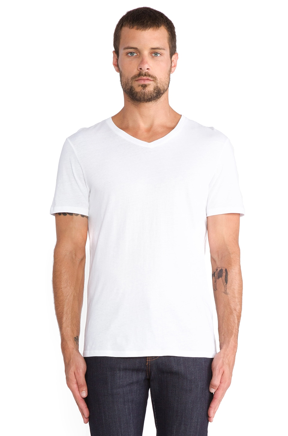 Vince Favorite Jersey V-Neck in White