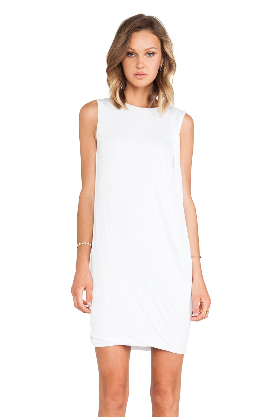 Vince Drape Dress in White