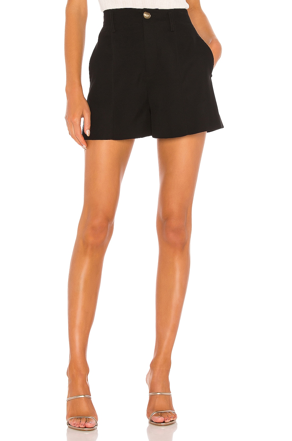 Vince High Rise Short in Black