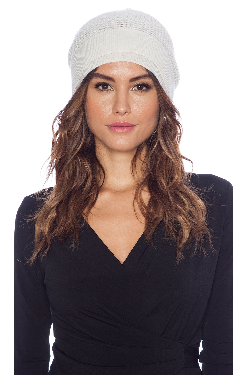 Vince Thermal Beanie in Winter White
