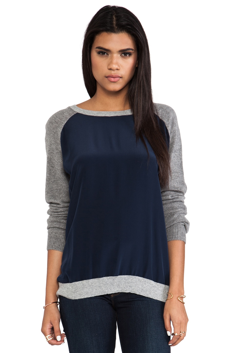 Vince Colorblock Raglan in Coastal