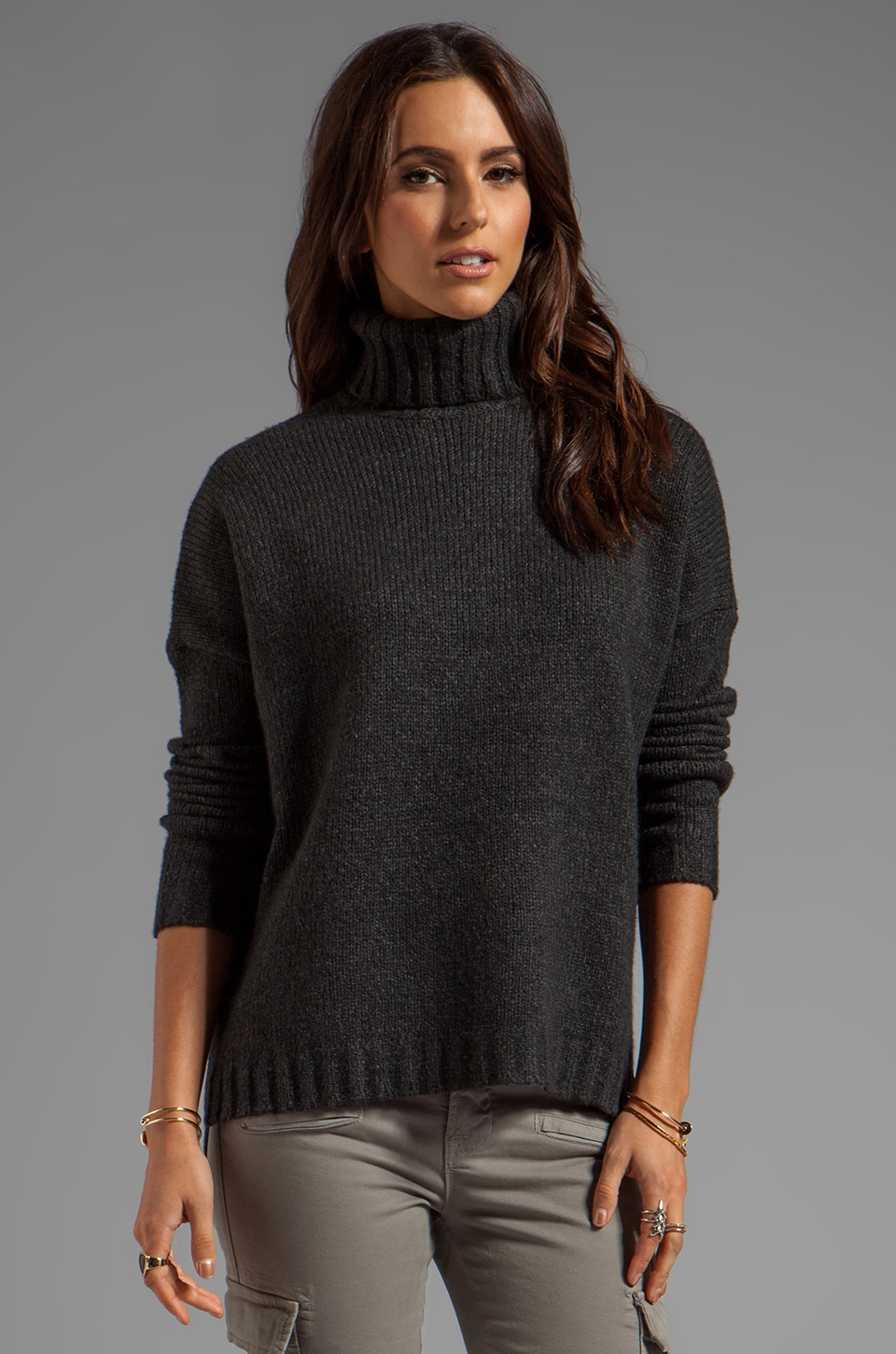 Vince Cozy Turtleneck in Dark Charcoal