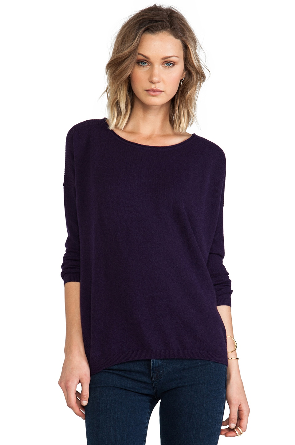 Vince Cashmere Sweater in Grape