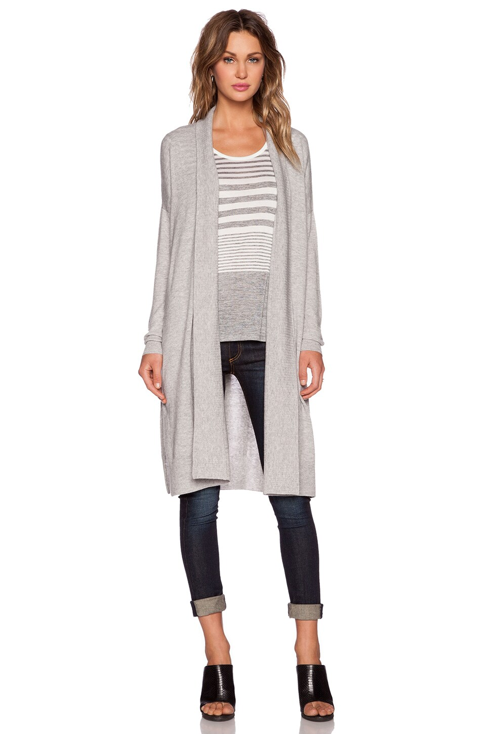 Vince Oversize Cardigan in Heather Steel