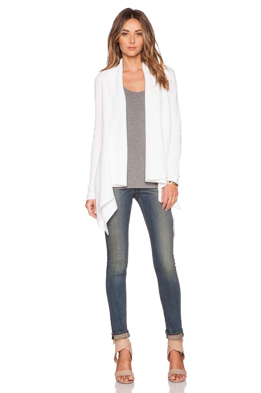 vince dp optic revolve sweater front cardigan white drape drapes in