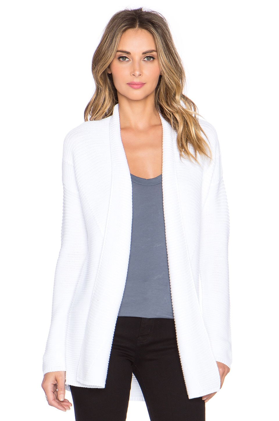 lyst dkny sweater clothing product white gallery front in drapes whitewhite drape