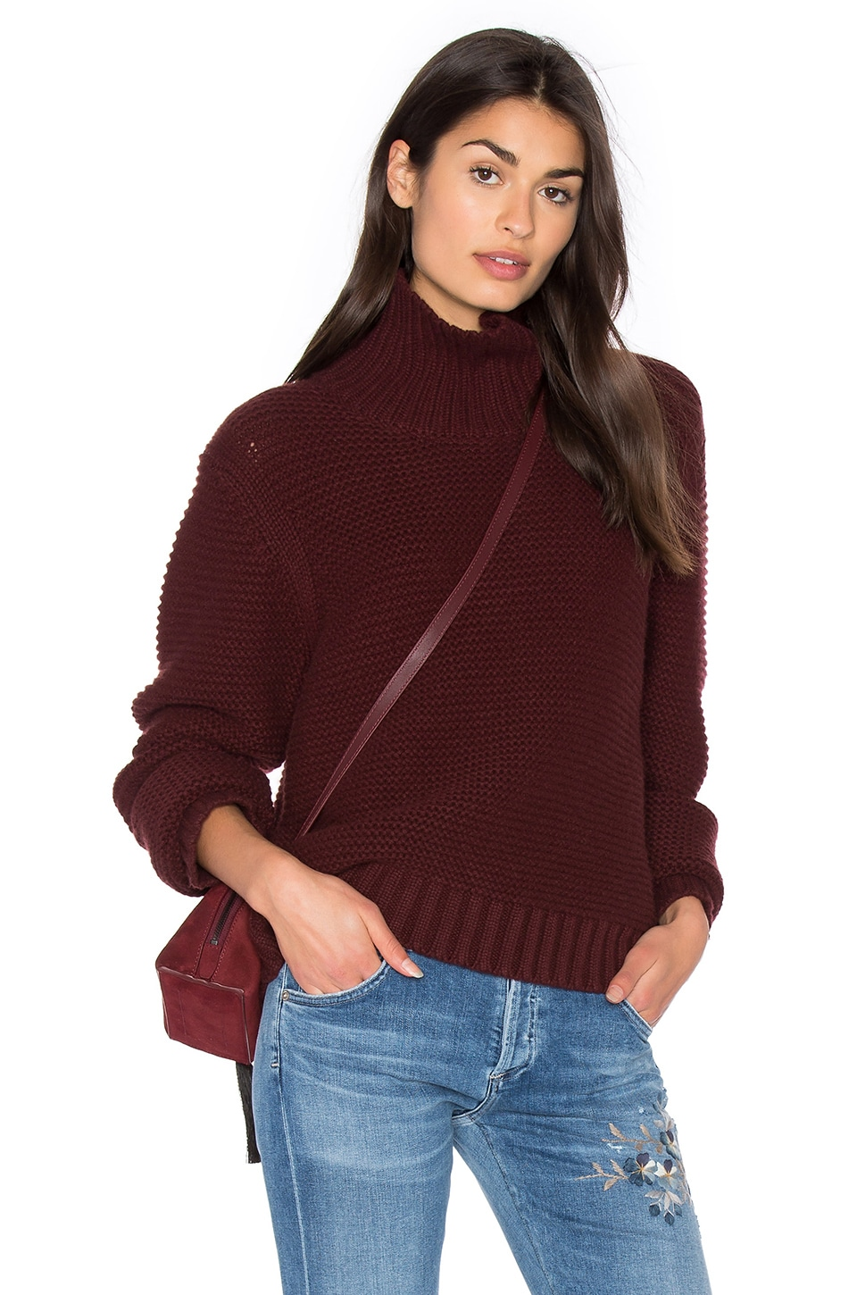 Vince Cowl Neck Sweater in Cordovan | REVOLVE